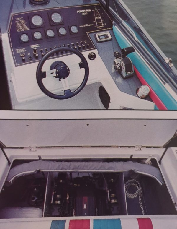 Power Play boat Cockpit engine